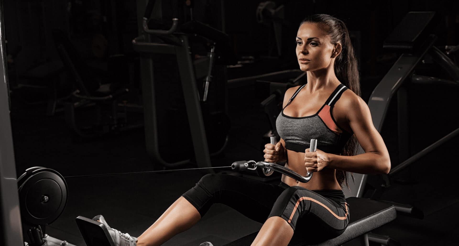 Happy Woman In Gym Wear